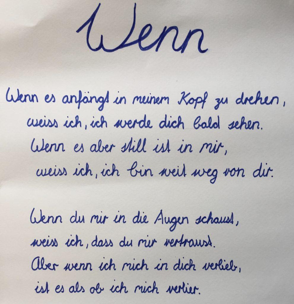 Gedichte Und Bilder.Gedichte E18a Oberstufe Wasseramt Ost